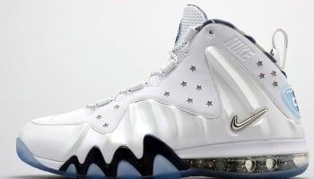 Nike Barkley Posite Max White/Metallic Silver-Midnight Navy