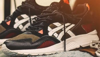Asics Gel-Lyte V Black/Olive-Red-White