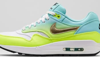 Nike Air Max 1 Premium Women's Ivory/Metallic Gold Coin-Volt-Hyper Turquoise