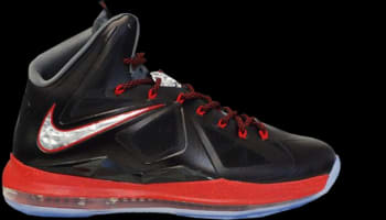 Nike LeBron X+ Black/University Red