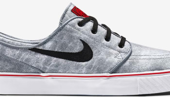 Nike Zoom Stefan Janoski Canvas Premium SB QS Wolf Grey/Black-White-University Red
