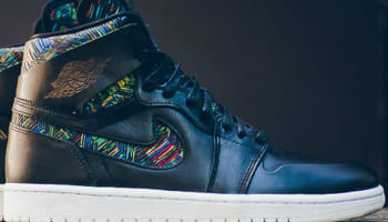 Air Jordan 1 Retro High Nouveau BHM Black/White-Black-Voltage Green