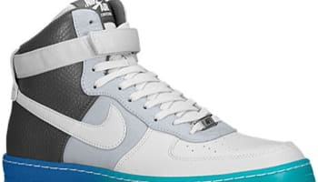 Nike Air Force 1 Downtown Hi Breeze Wolf Grey/Pure Platinum-Dark Grey-Military Blue