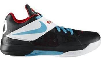 Nike KD 4 N7 Black/Dark Turquoise-Challenge Red