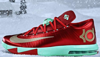 Nike KD VI Light Crimson/Metallic Gold-Green Glow
