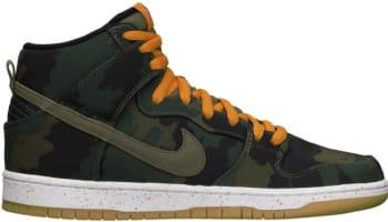 Nike Dunk High Premium SB Black/Olive Khaki-Sunset