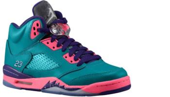 Girls Air Jordan 5 Retro GS Tropical Teal