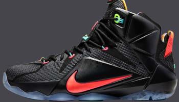 Nike LeBron 12 Black/Bright Mango-Hyper Punch-Volt