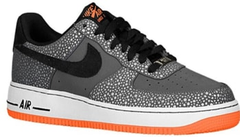 Nike Air Force 1 Low Dark Grey/Black-Total Orange