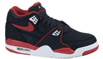 Nike Air Flight '89 Black/Sport Red-White