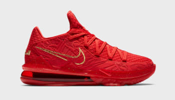 Titan x Nike LeBron 17 Low University Red/Metallic Gold