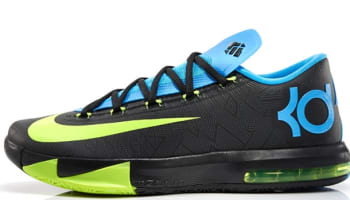 Nike KD VI Black/Volt-Vivid Blue-Dark Grey