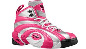 Reebok Shaqnosis Girls Pure Silver/Candy Pink-White-Black