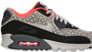 Nike Air Max '90 Leather Premium Black/Granite-Anthracite-Bright Crimson