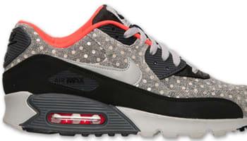 Nike Air Max '90 Leather Premium Black/Granite-Anthracite-Bright Crimson