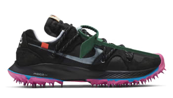 Off-White x Nike Zoom Terra Kiger 5 Women's Black/Metallic Silver-White-Pink Blast