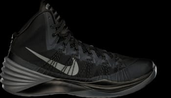 Nike Hyperdunk 2013 Black/Metallic Silver-Dark Grey