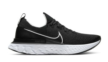 Nike React Infinity Run Flyknit Black/White-Dark Grey
