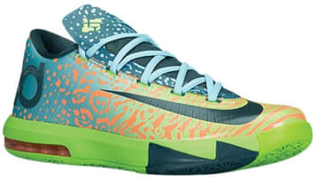Nike KD VI Electric Green/Night Factor-Atomic Orange