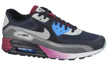 Nike Air Max Lunar90 C3.0 Midnight Navy/Light Base Grey-Cool Grey-Dark Obsidian-Bright Magenta-Photo Blue
