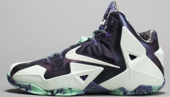 Nike LeBron 11 AS Cashmere/Green Glow-Purple Dynasty