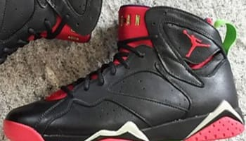 Air Jordan 7 Retro Black/University Red-Green Pulse-Cool Grey