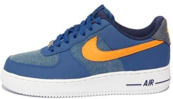 Nike Air Force 1 Low Storm Blue/White-Vivid Orange
