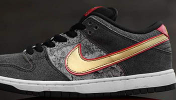 Nike Dunk Low Premium SB Black/Metallic Gold-University Red