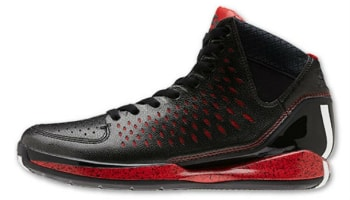 adidas Rose 3 Black/White-Light Scarlet