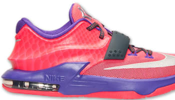 best sneakers 3d748 a172e Nike KD VII GS Hyper Punch Metallic Silver-Hyper Grape