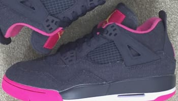 Girls Air Jordan 4 Retro Denim