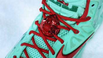 Nike LeBron 11 Green Glow/Light Crimson-Arctic Green