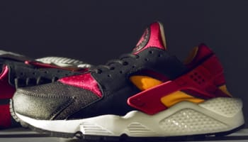 Nike Air Huarache LE Black/Laser Orange-Fuchsia