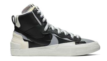 Sacai x Nike Blazer Mid Black/White-Wolf Grey-Black