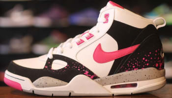 Nike Flight '13 Mid Black/Vivid Pink-Wolf Grey-White