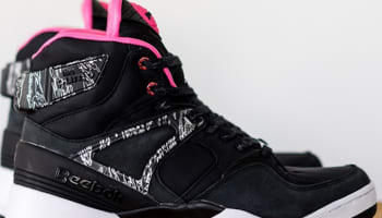 Reebok The Pump Certified Black/White-Solar Pink-Metallic Silver
