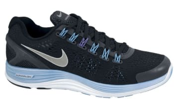 Nike Lunarglide+ 4 Premium Women's Black/Reflective Silver-Blue Glow-Pure Purple