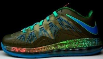 Nike LeBron X Low Reptile Tarp Green