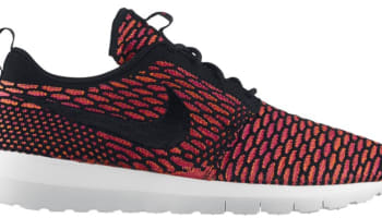Nike Roshe Run Flyknit Black/White-Fireberry-Total Orange