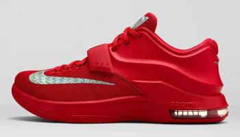 Nike KD VII Action Red/Metallic Silver