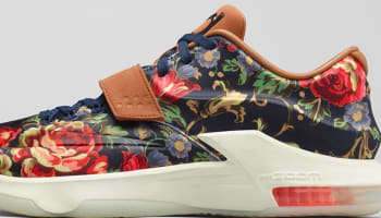 Nike KD VII EXT Floral QS Midnight Navy/Black-Hazelnut