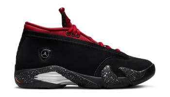 Air Jordan 14 Low Women's Black/Metallic Silver-Gym Red