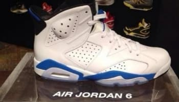 Air Jordan 6 Retro White/Sport Blue-Black