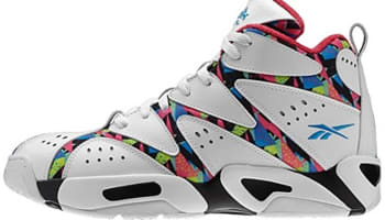 Reebok Kamikaze I Mid White/Black-Energy Blue