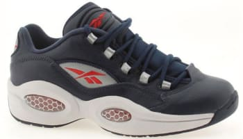 Reebok Question Low Navy/Steel-Red-Silver