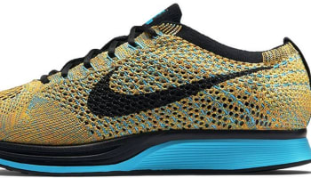 Nike Flyknit Racer Bright Citrus/Blue Lagoon-Laser Orange-Black