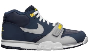 Nike Air Trainer 1 Mid Premium Midnight Navy/Wolf Grey-Obsidian-Tour Yellow