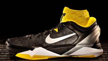Nike Zoom Kobe 7 System Supreme Black/Metallic Silver-Tour Yellow-White