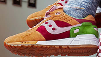 Saucony Shadow 5000 Light Brown/Red-Green