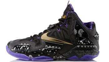 Nike LeBron 11 BHM Anthracite/Metallic Gold-Purple Venom